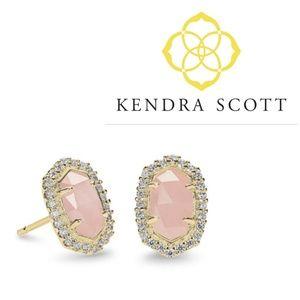 JUST IN🔶️Kendra Scott Rose Quartz Cade Earrings